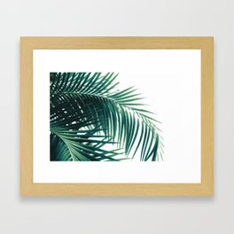 Palm Leaves Green Vibes #6 #tropical #decor #art #society6 Framed Art Print