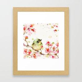 Mr Fluffy Pants (bird) Framed Art Print