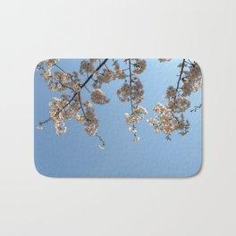 Cherry Blossoms from Below Bath Mat