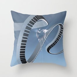 Soft Keys Throw Pillow