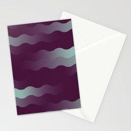 Mint Plum Gradient Wave Stationery Cards