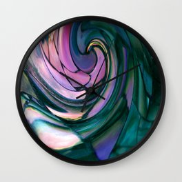 paua spiral Wall Clock
