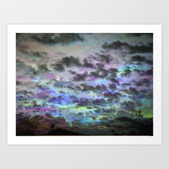 Colors Rolling in Art Print
