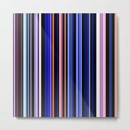 Multi color stripes 01 Metal Print
