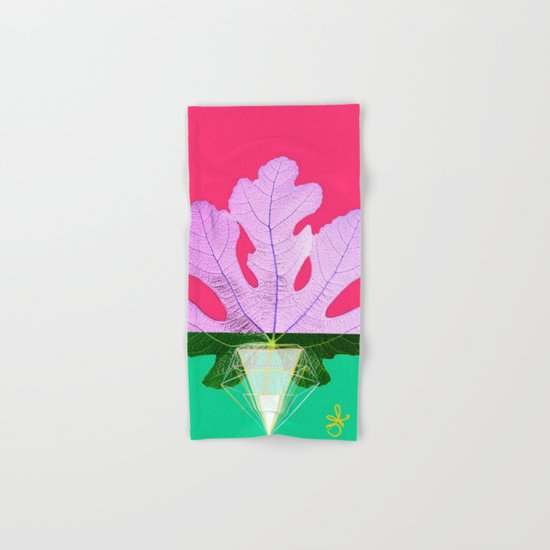 Fig Leaf Diamond Christmas Half and Half  Hand & Bath Towel