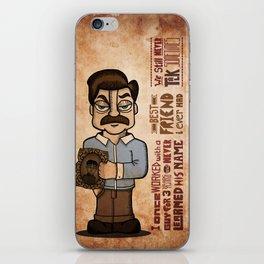 Ron Swanson 3 iPhone Skin