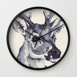 Deer Sketch Wall Clock