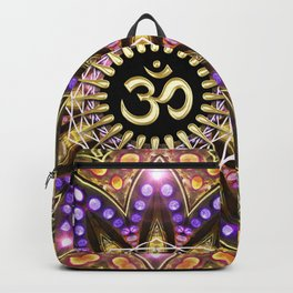 OM SHANTI Magic Lights Mandala Backpack
