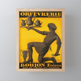 Retro fabrique dorfevrerie genevoise Framed Mini Art Print