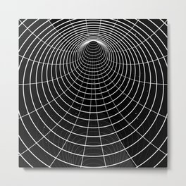 Black-white wormhole Metal Print