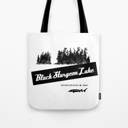 Black Sturgeon Lake (black) Tote Bag
