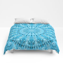 Mary Jane Mandala (blue) Comforters