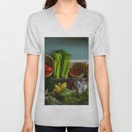 Eat Your Veggies Unisex V-Neck