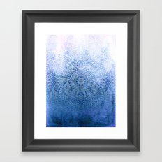 Enchanted Indigo - watercolor + doodle Framed Art Print