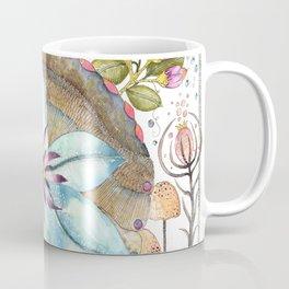 Flower Over Shell Coffee Mug