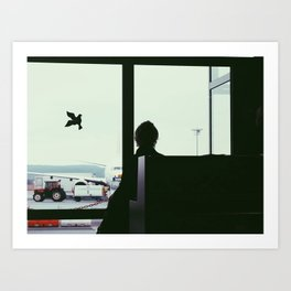 waiting for the plane Art Print