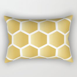 Honeycomb pattern - gold Rectangular Pillow