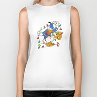 donald duck Biker Tanks featuring Funny Angry Donald Duck by Yuliya L
