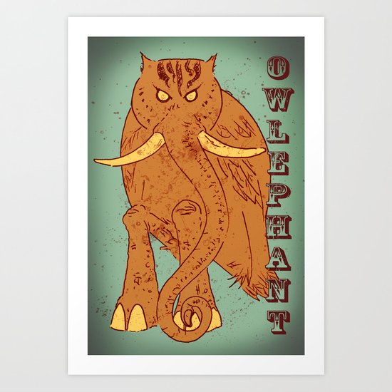 Owlephant Art Print