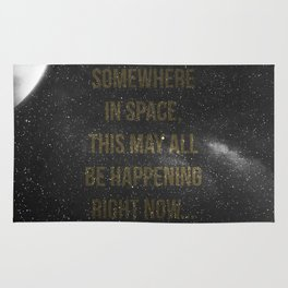 Somewhere in space,... Rug