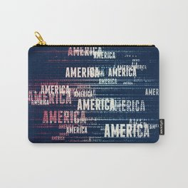 America Typographic Design Carry-All Pouch