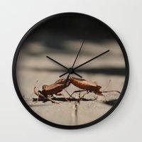 wrestling Wall Clocks featuring wrestling by Grigoriy Pil
