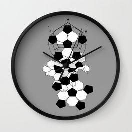 Soccer Football Ball pattern design  Wall Clock
