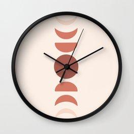 Blush Pink Moons - Modern Home Art Wall Clock