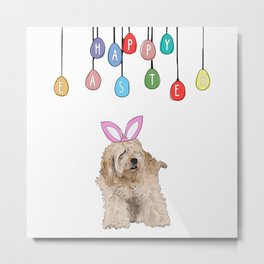 Happy Easter - Fluffy Bunny Metal Print
