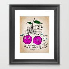Cherry Twins Framed Art Print