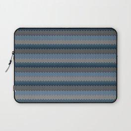 Blue Winter Wool - Knitting Delight Laptop Sleeve