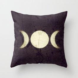 Triple Moon Goddess Throw Pillow