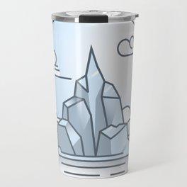 Ice mountains Travel Mug