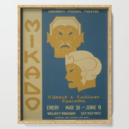 Vintage poster - Mikado Serving Tray