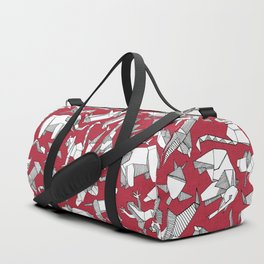 origami animal ditsy red Duffle Bag