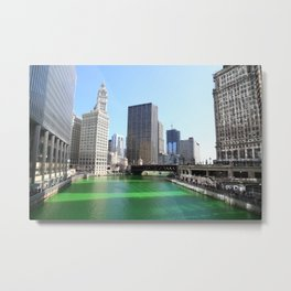 Chicago River Green for St. Patrick's Day Metal Print