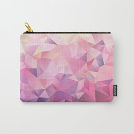 polygonal pink pattern Carry-All Pouch