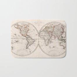 Vintage Map of The World (1804) Bath Mat