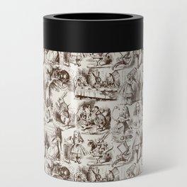 Alice in Wonderland | Toile de Jouy | Brown and Beige Can Cooler