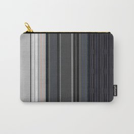 Ombré Striped Panels (cream, silver, white & ink black) Carry-All Pouch