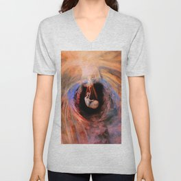 Nestled in Cozy Comfort Unisex V-Neck