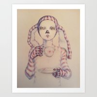 tea Art Prints featuring Tea? by Zina Nedelcheva