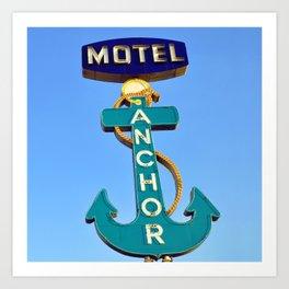 Anchor Motel (Square) Art Print
