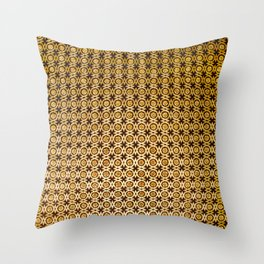 Gold and wood carving pattern Throw Pillow