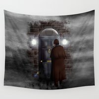 221b Wall Tapestries featuring Haunted sherlock holmes house 221b iPhone 4 4s 5 5c, pillow case, mugs and tshirt by Three Second
