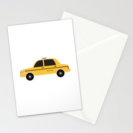 New York City, NYC Yellow Taxi Cab 2 Stationery Cards