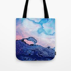 BLUE AND PINK PAINT MIXING Tote Bag