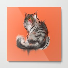 Norwegian Forest Cat Metal Print