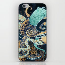 Metallic Octopus II iPhone Skin