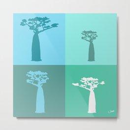 Baobab Azure Metal Print